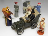 Erzgebrige auto avec mariés