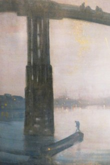 "James Whistler ""nocturne bleu et or : le vieux Battersea bridge"""