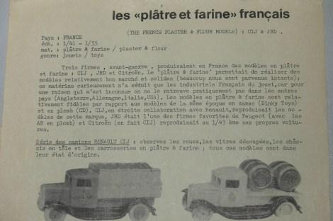 """Ma Collection texte sur les """"plâtre farine"""""""