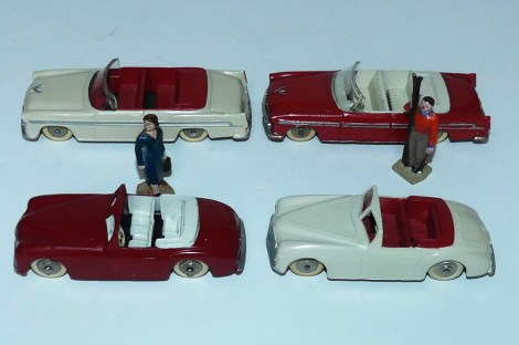 Dinky Toys Chrysler New Yorker et Simca 8 Sports (combinaison de couleur)