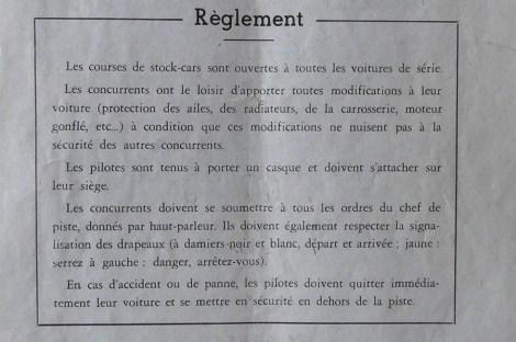 programme du Ruban LE REGLEMENT