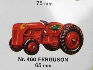 Tekno extrait de catalogue avec le Ferguson