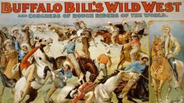 Affiche du spectacle de Buffalo Bill et des indiens