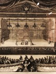 """Jean Lepautre """"la représentation du malade imaginaire"""" en 1674 eau-forte et burin de 1676"""