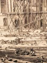 """Sébastien Leclerc """"représentation des machines qui ont servi à élever les deux grandes pierres qui couvrent le fronton de la principale entrée du Louvre"""" 1676"""