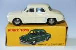 Dinky Toys Renault Dauphine avec vitrage (moins fréquente version) et rare boîte surchargée