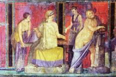 fresque de la villa des Mystères Pompéi Milieu du 1er siècle