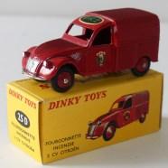 """Dinky Toys Citroën 2cv pompier de Paris """"PKZ"""""""