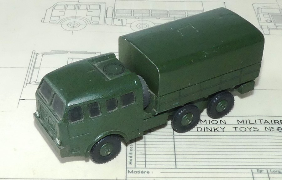prototype en bois Dinky Toys Berliet T6 et plan d'origine