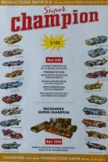 Safir Champion publicité pour la série des 1/43 de course