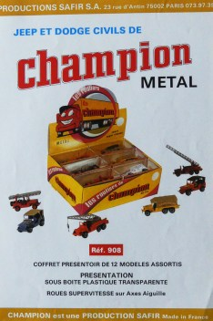 Safir Champion publicité pour la série Dodge et Willys Jeep