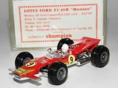Safir Champion Lotus 49E version GP Monaco 1968