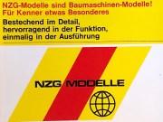 Catalogue NZG distribué par Modélisme