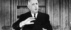 le président français Charles De Gaulle