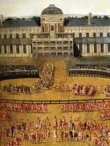 """Henri Gissey """"carrousel donné par Louis XIV pour la naissance du dauphin dans la cour des Tuileries 5 Juin 1662"""""""