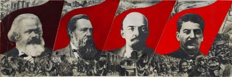 Gustav Klucis, Dressez la bannière de Marx, Engels, Lénine et Staline !,