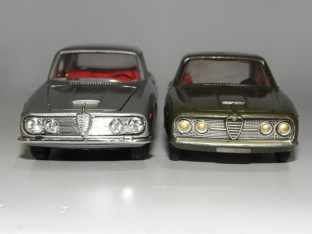 Alfa Romeo 2600 coupé : la Politoys et la Solido