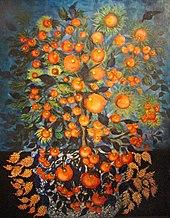 Séraphine de Senlis tableau exposé à la galerie Dina Vierny