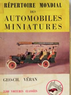 le répertoire des automobiles miniatures de Véran du CIAM