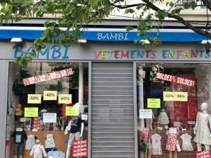 """le magasin """"Bambi"""" à Saint Maur des fossés en 2019"""