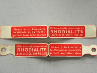 Norev étiquettes Rhodialite