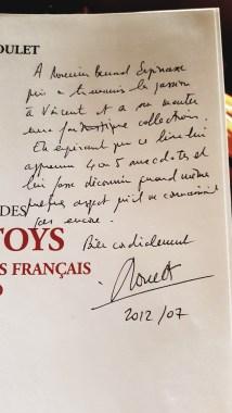 La dédicace de Jean Michel Roulet à mon père : tout est dit