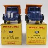 Dinky Toys Berliet GLR benne avec jantes concave avec et sans finition argent (boîte Meccano Tri Ang et Meccano)