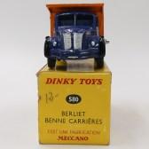Dinky Toys Berliet GLR benne avec jantes concave et finition argent (boîte Meccano)