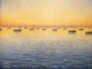 Paul Signac Soleil couchant, pêche à la sardine , Concarneau.