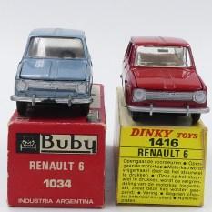 Dinky Toys et Buby: les différences entre les deux Renault 6