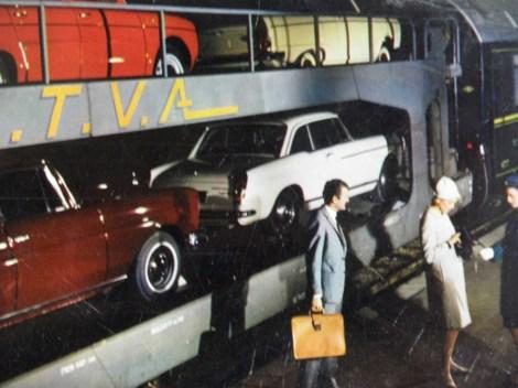 Wagon de la S.T.V.A avec Peugeot 404 (document Philippe Raymond)