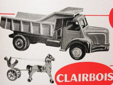 Clairbois: comment ne pas y voir l'inspiration du Berliet GLR de chez Dinky Toys