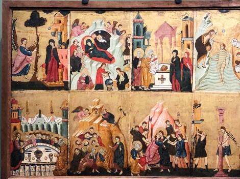 collection Alana Peintre romain du XIII é siècle Huit scènes de la vie du Christ