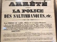 """arrêté """"la police des saltimbanques"""" ...encadrant la vie des gens du cirque !"""