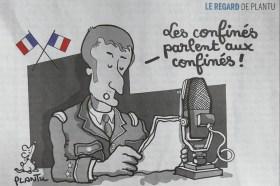 """Journal """"Le Monde """"du 18 Mars dessin de Plantu à la une"""