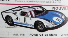 catalogue Solido: Ford GT 40 dessin de Jean Blanche