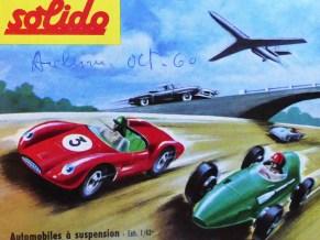 catalogue Solido de 1960 : dessin de Jean Blanche