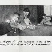 """Actualités Meccano: monsieur Rio anime un jeux lors de la réunion du club du """"BB Lorrain"""""""