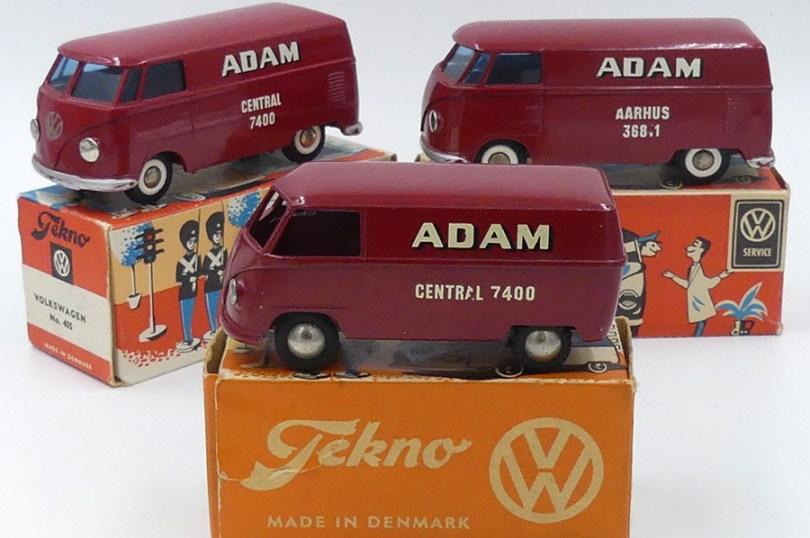 """Tekno Volkswagen fourgon""""Adam"""" les 3 versions (Central =Copenhague et Aarhus)"""