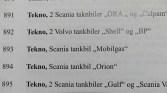 catalogue de la vente aux enchères de 2013 où figuraient ces deux deux Scania citerne