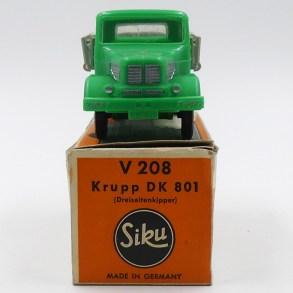 Siku Krupp DK 801 ridelles. Un des derniers Siku plastique. Superbe !