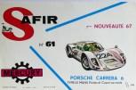 Mercury: affichette éditée par Safir en langue française pour promouvoir la gamme (Porsche Carrera 6 à la Targa Florio)