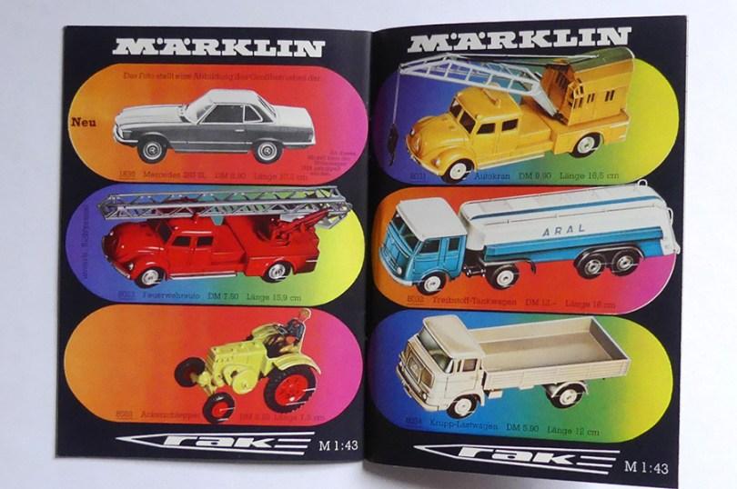Marklin catalogue 1971 et oui, on trouvait encore ces véhicules au catalogue en 1971 !