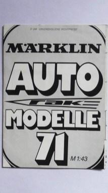 Marklin catalogue 1971 avec ...des Mercury ! elles semblent bien lourdes à côté des Marklin