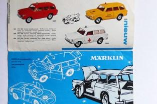 Marklin couverture de catalogue avec Volkswagen 1600 Variant