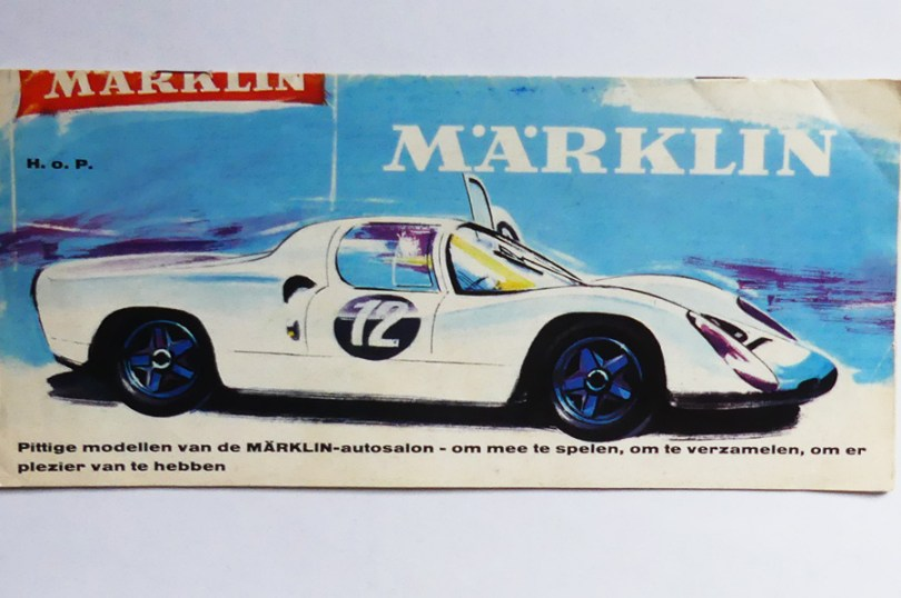 Marklin couverture de catalogue avec Porsche 910
