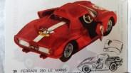 Catalogue Mercury importé en France par Safir en langue française : la Ferrari 250 LM