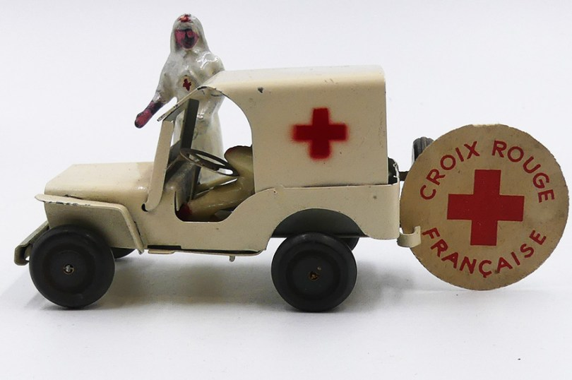 """Polichinelle Willys Jeep ambulance """"Croix Rouge Française"""""""