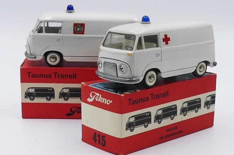 "Tekno Ford Transit ambulance ""Fack"" et ""Croix Rouge"""