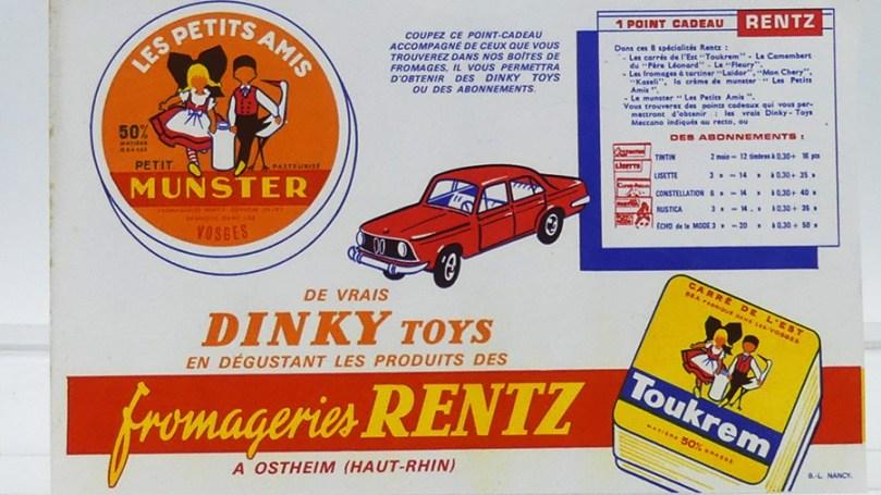 """Buvard publicitaire """"les petits amis Munster"""" et la BMW 1500 à gagner"""